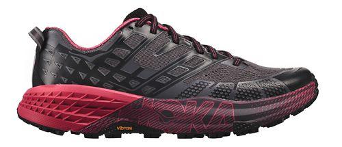 Womens Hoka One One Speedgoat 2 Trail Running Shoe - Black/Azalea 7.5