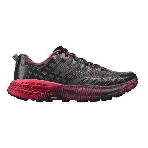 Womens Hoka One One Speedgoat 2 Trail Running Shoe - Black/Azalea 10