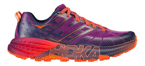 Womens Hoka One One Speedgoat 2 Trail Running Shoe - Plum/Navy 5