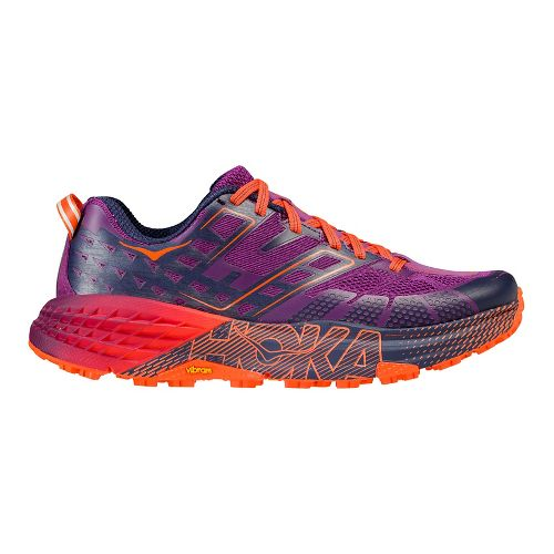 Womens Hoka One One Speedgoat 2 Trail Running Shoe - Plum/Navy 8