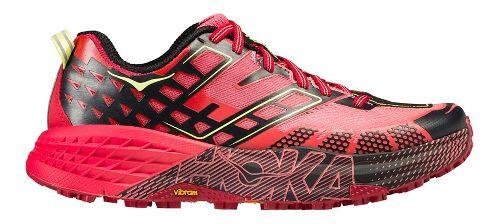 Womens Hoka One One Speedgoat 2 Trail Running Shoe - Coral/Red 9.5