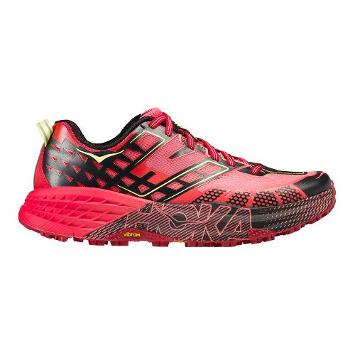 Womens Hoka One One Speedgoat 2 Trail Running Shoe - Coral/Red 9