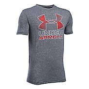 Under Armour Boys Big Logo Hybrid 2.0 Tee Short Sleeve Technical Tops