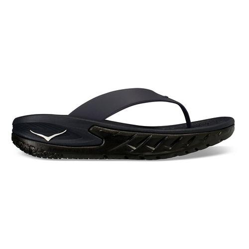 Mens Hoka One One Ora Recovery Flip Sandals Shoe - Black/Black 7