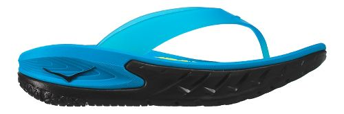 Mens Hoka One One Ora Recovery Flip Sandals Shoe - Black/Blue 10