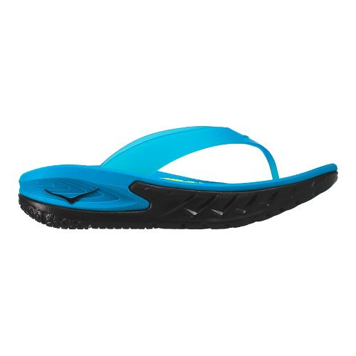Mens Hoka One One Ora Recovery Flip Sandals Shoe - Black/Blue 11
