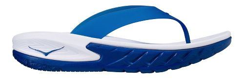 Mens Hoka One One Ora Recovery Flip Sandals Shoe - White/Blue 10