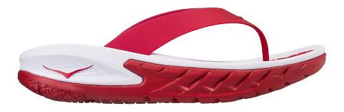 Mens Hoka One One Ora Recovery Flip Sandals Shoe - Red/White 7