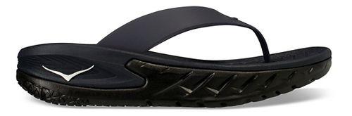 Womens Hoka One One Ora Recovery Flip Sandals Shoe - Black/Black 11