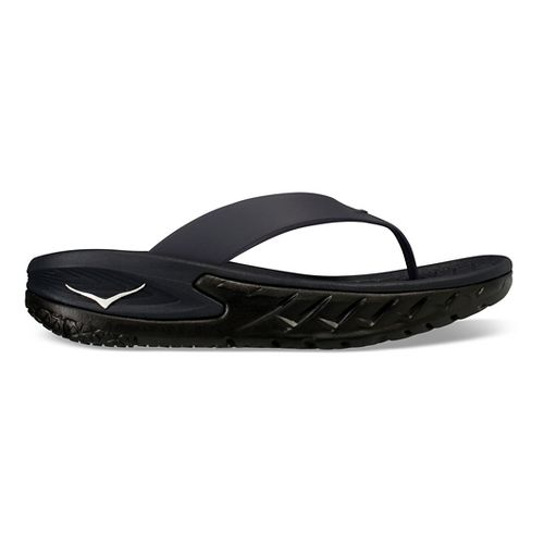 Womens Hoka One One Ora Recovery Flip Sandals Shoe - Black/Black 7