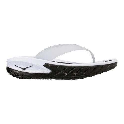 Womens Hoka One One Ora Recovery Flip Sandals Shoe - Black/White 6
