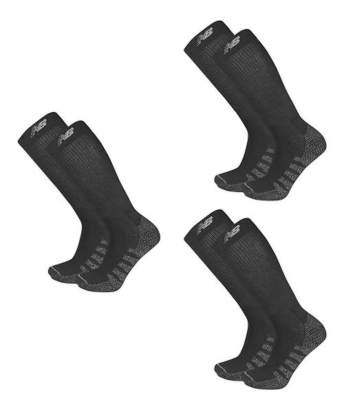 New Balance Elite Coolmax Crew 6 Pack Socks - Black L