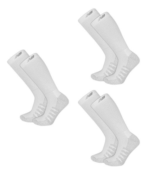 New Balance Elite Coolmax Crew 6 Pack Socks - White M