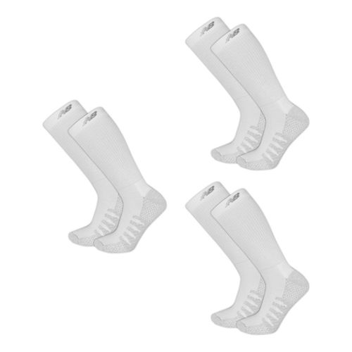 New Balance Elite Coolmax Crew 6 Pack Socks - White XL