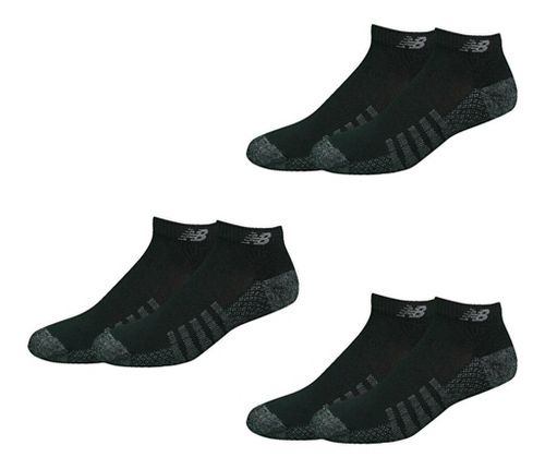 New Balance Technical Elite Coolmax Low Cut 6 Pack Socks - Black XL