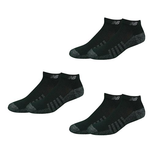 New Balance Technical Elite Coolmax Low Cut 6 Pack Socks - Black L