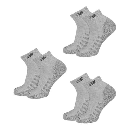 New Balance Technical Elite Coolmax Low Cut 6 Pack Socks - Grey S