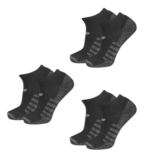 New Balance Technical Elite Coolmax No Show 6 Pack Socks - Black M