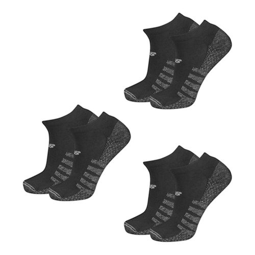 New Balance Technical Elite Coolmax No Show 6 Pack Socks - Black L