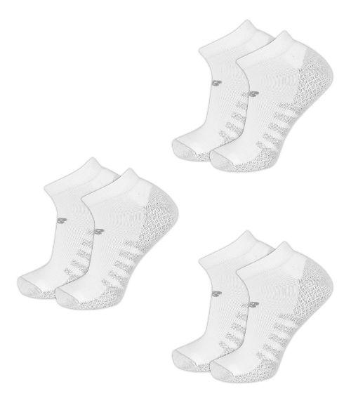 New Balance Technical Elite Coolmax No Show 6 Pack Socks - White L