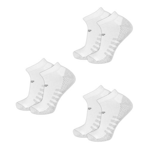 New Balance Technical Elite Coolmax No Show 6 Pack Socks - White M