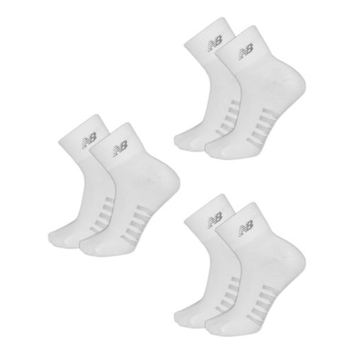 New Balance Technical Elite Coolmax Thin Quarter 6 Pack Socks - White L