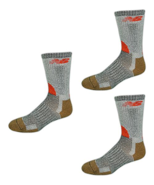 New Balance Technical Elite NBx Trail Crew 3 Pack Socks - Black/Orange L
