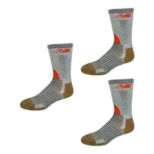 New Balance Technical Elite NBx Trail Crew 3 Pack Socks - Black/Orange M