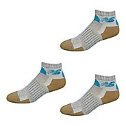 New Balance Technical Elite NBX Trail Quarter 3 Pack Socks - Grey/Blue XL