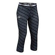 Under Armour Girls Heatgear Printed Capri Pants - Black YS