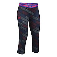 Under Armour Girls Heatgear Printed Capri Pants