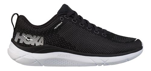 Womens Hoka One One Hupana Running Shoe - Black/White 9.5