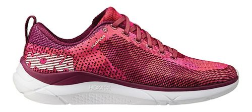 Womens Hoka One One Hupana Running Shoe - Sangria/Coral 5
