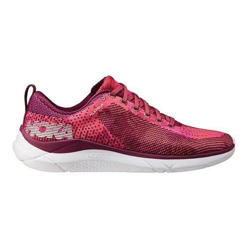 Womens Hoka One One Hupana Running Shoe - Sangria/Coral 11