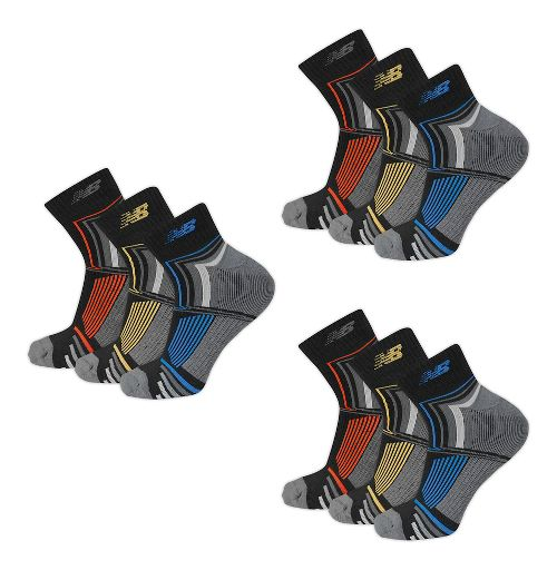 New Balance Performance Ankle 9 Pack Socks - Black L