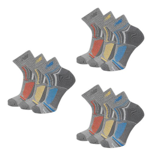 New Balance Performance Ankle 9 Pack Socks - Grey L