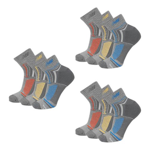 New Balance Performance Ankle 9 Pack Socks - White L