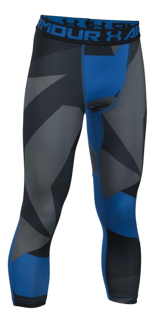 Under Armour Boys 3/4 Logo Printed Legging Capris Pants - Ultra Blue YXL