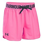 Under Armour Girls Play Up Unlined Shorts - Pink Punk YL