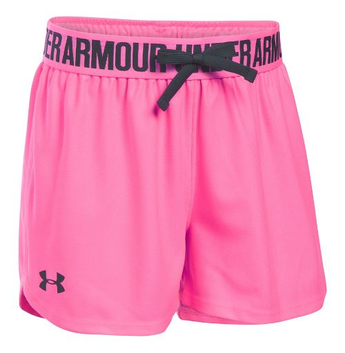 Under Armour Girls Play Up Unlined Shorts - Pink Punk YXL