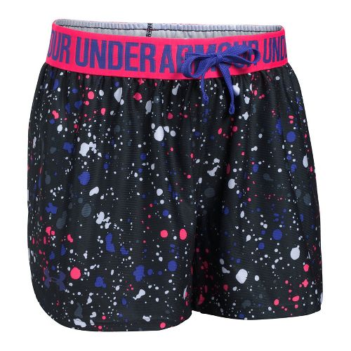 Under Armour Girls Play Up Printed Unlined Shorts - Blue/Ink YXL