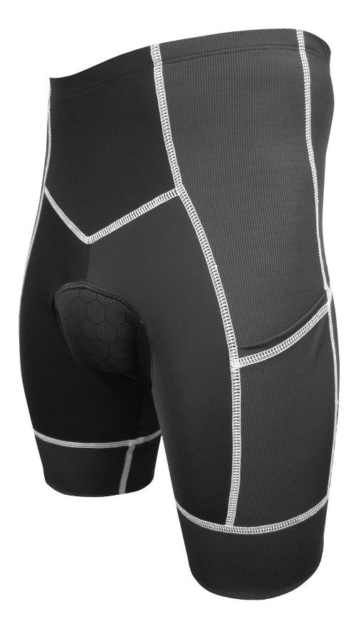 Mens De Soto 400-Mile Cycling Shorts - Black/White L
