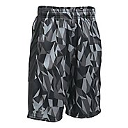 Under Armour Boys Stunt Printed Unlined Shorts - Black/Graphite YS