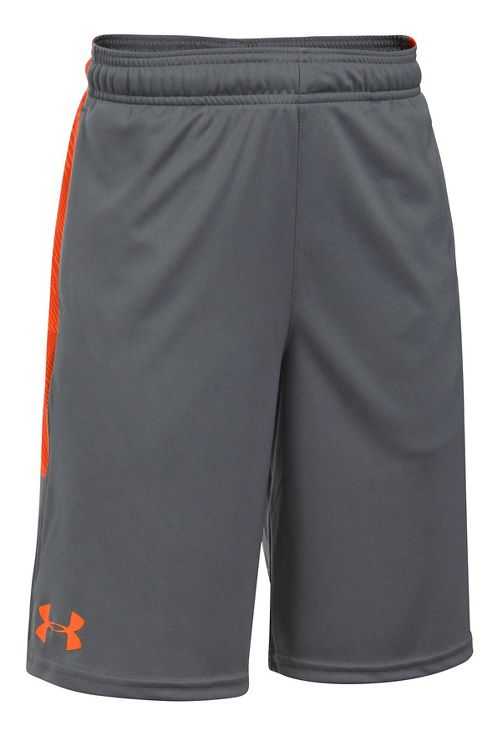Under Armour Boys Stunt Printed Unlined Shorts - Graphite/Orange YXL