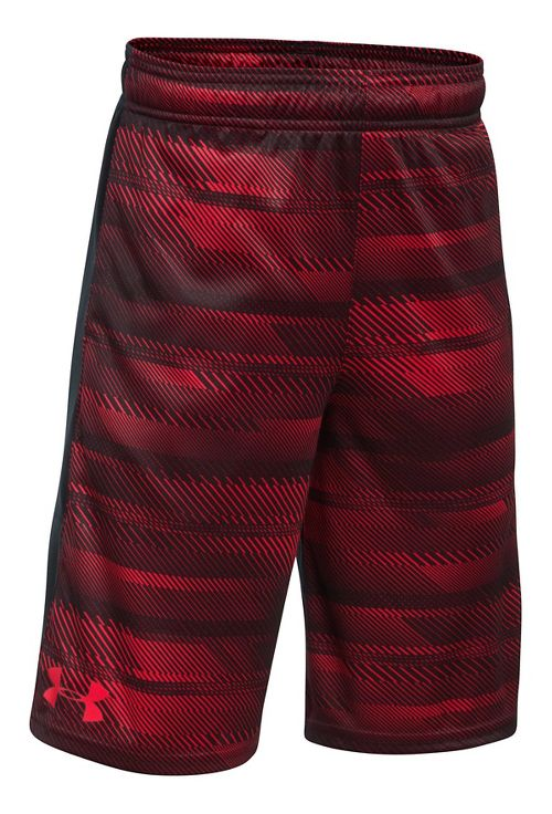 Under Armour Boys Stunt Printed Unlined Shorts - Red/Black/Red YM