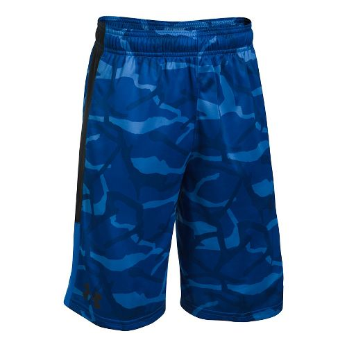 Under Armour Boys Stunt Printed Unlined Shorts - Ultra Blue/Black YXS
