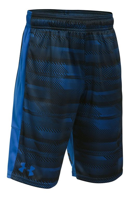 Under Armour Boys Stunt Printed Unlined Shorts - Black/Black/Steel YXS