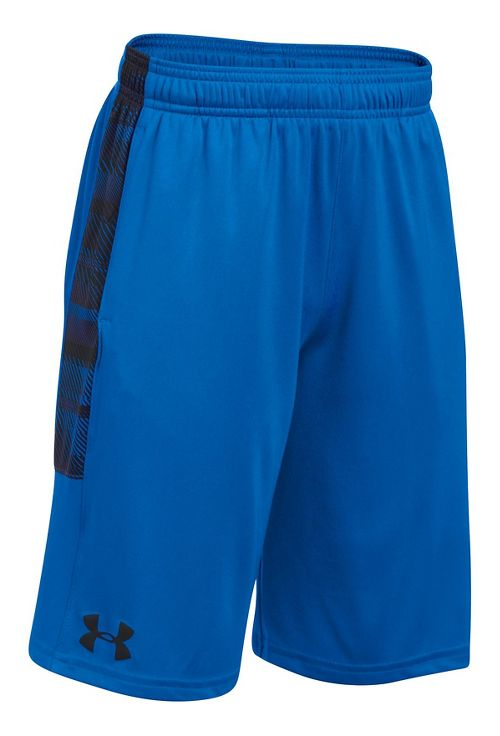 Under Armour Boys Stunt Printed Unlined Shorts - Graphite YL