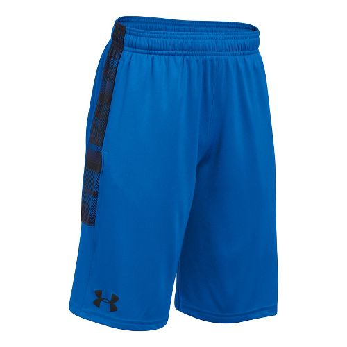 Under Armour Boys Stunt Printed Unlined Shorts - Red/Red/Black YS