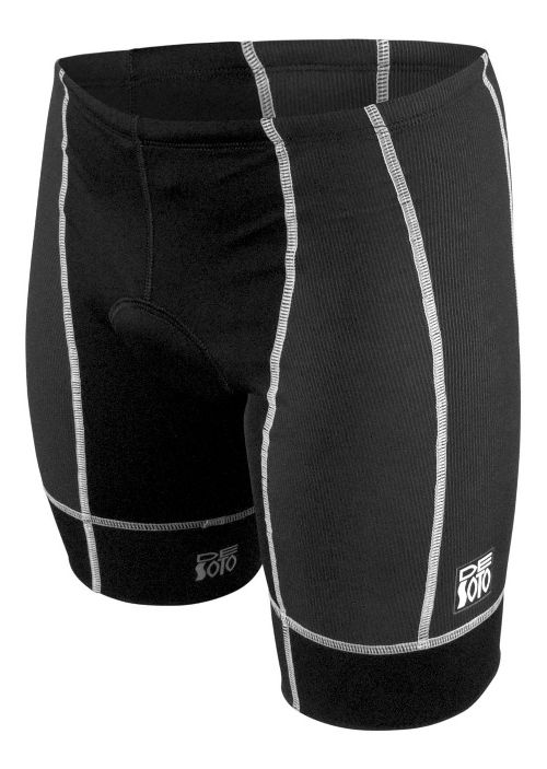 Mens De Soto Forza Tri Cycling Shorts - Black/White M